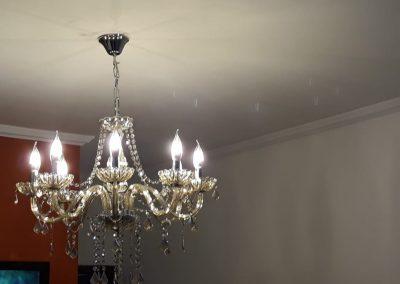 instalação de lustre de cristal eletricista lapa