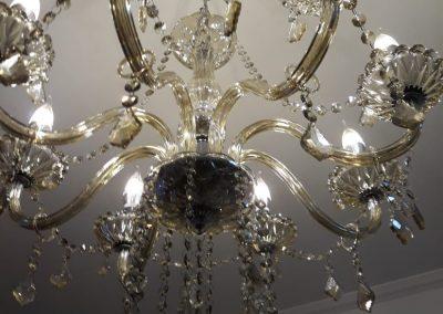instalação eletrica lustre de cristal