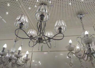instalação de lustre com 5 lampadas