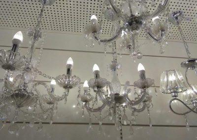 instalação de lustre com 6 lampadas