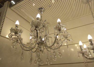 instalação de lustre com varias lampadas