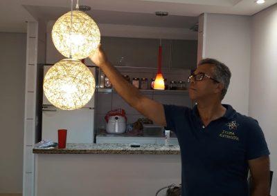 instalação de luminária led